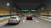 Tunel před odbočovací rampou u křižovatky Troja